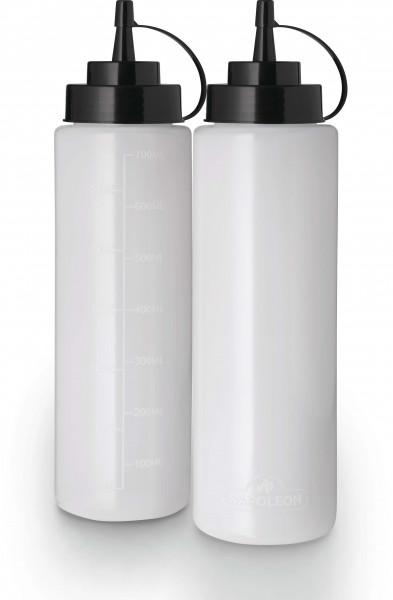2er Set Kunststoff-Quetschflasche, groß