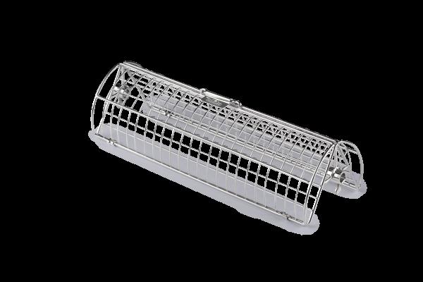 Drehspieß-Korb mit zwei Kammern, Edelstahl
