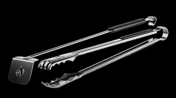 Holzkohle-Tool-Set mit Holzkohlenzangen und -schieber