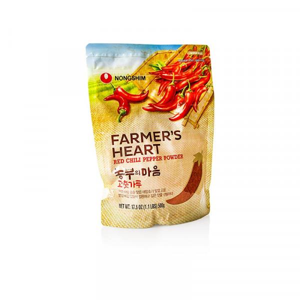 Gochugaru, Nong Shim, Chilipulver für Kim Chee, Farmers Heart